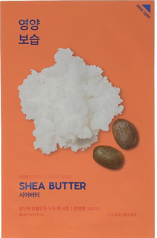 "Тканевая маска ""Масло ши"" - Holika Holika Pure Essence Mask Sheet Shea Butter"