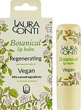 Духи, Парфюмерия, косметика Восстанавливающий бальзам для губ с маслом моной и жожоба - Laura Conti Botanical Vegan Regenerating