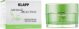 "Парфумерія, косметика Крем-маска ""Лемонграс детокс"" - Klapp Aroma Selection Lemongrass Detox Mask"