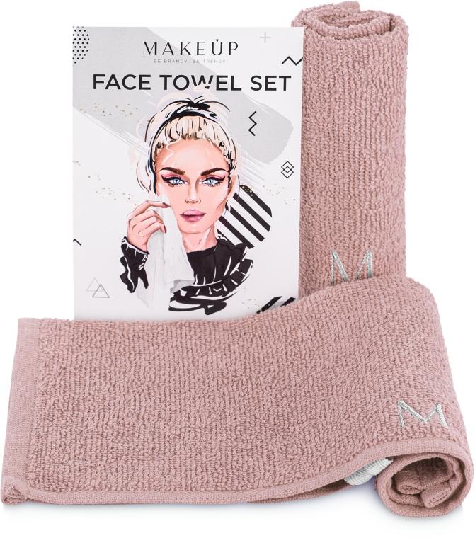 """Дорожный набор полотенец для лица, бежевые """"MakeTravel"""" - Makeup Face Towel Set"""