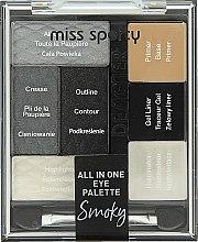 Духи, Парфюмерия, косметика Палетка для макияжа глаз - Miss Sporty Designer All In One Eye Palette