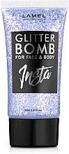 Духи, Парфюмерия, косметика Жидкий глиттер - Lamel Professional Insta Glitter Bomb for Face & Body