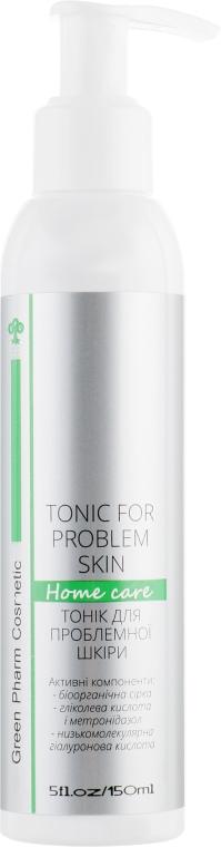 Тоник для лица для проблемной кожи - Green Pharm Cosmetic Tonic For Problem Skin PH 3,0