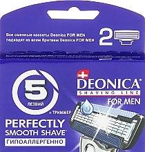 Духи, Парфюмерия, косметика Сменные кассеты для бритья, 5 лезвий, 2 шт. - Deonica For Men