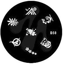 Духи, Парфюмерия, косметика Диск для стемпинга, B-58 - Nails Molekula