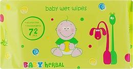 Духи, Парфюмерия, косметика Детские влажные салфетки - Normal Clinic Baby Herbal
