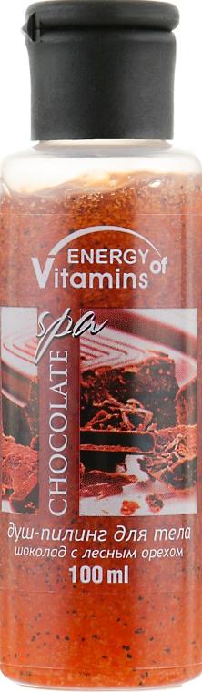 """Душ-пилинг для тела """"Шоколад с лесным орехом"""" - Energy of Vitamins Shower Gel"""