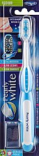 "Духи, Парфюмерия, косметика Зубная щетка ""Pearly White"", средней жесткости, голубая - Piave Pearly White Medium Toothbrush"