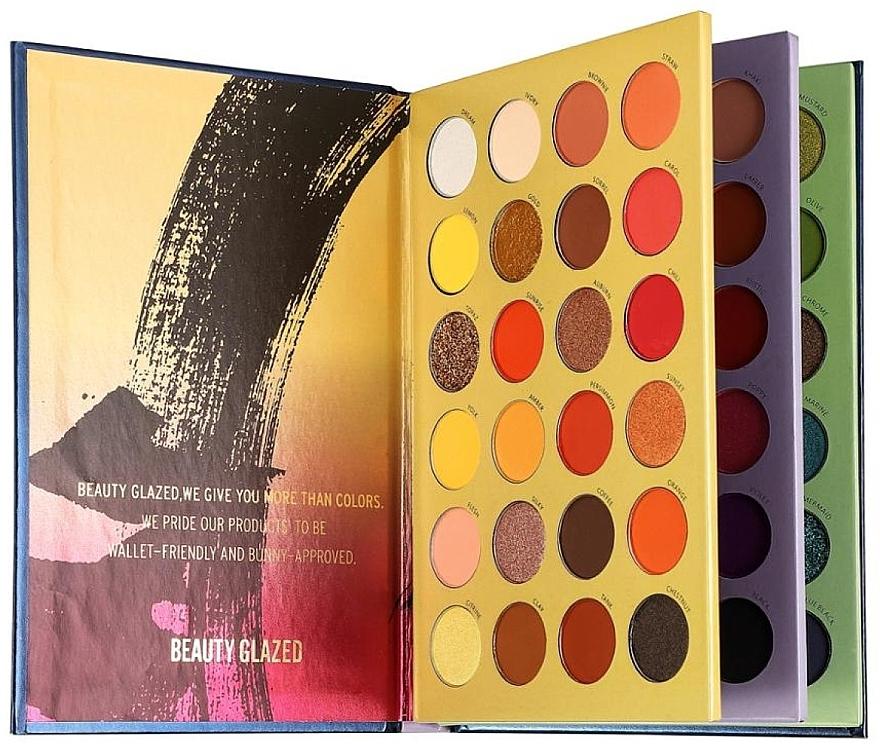 Палетка теней для век, 72 цвета - Beauty Glazed Color Shades Pressed Powder Eyeshadow