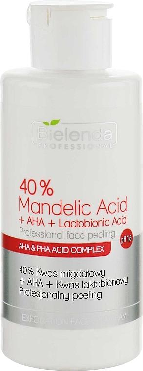 """Профессиональный пилинг """"40% Миндальная кислота + АНА + Лактобионовая кислота"""" - Bielenda Professional Exfoliation Face Program 40% Mandelic Acid + AHA + Lactobionic Acid"""
