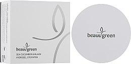 Парфумерія, косметика Патчі для шкіри навколо очей, з екстрактом огірка та пудрою чорних перлів - BeauuGreen Sea Cucumber & Black Hydrogel Eye Patch