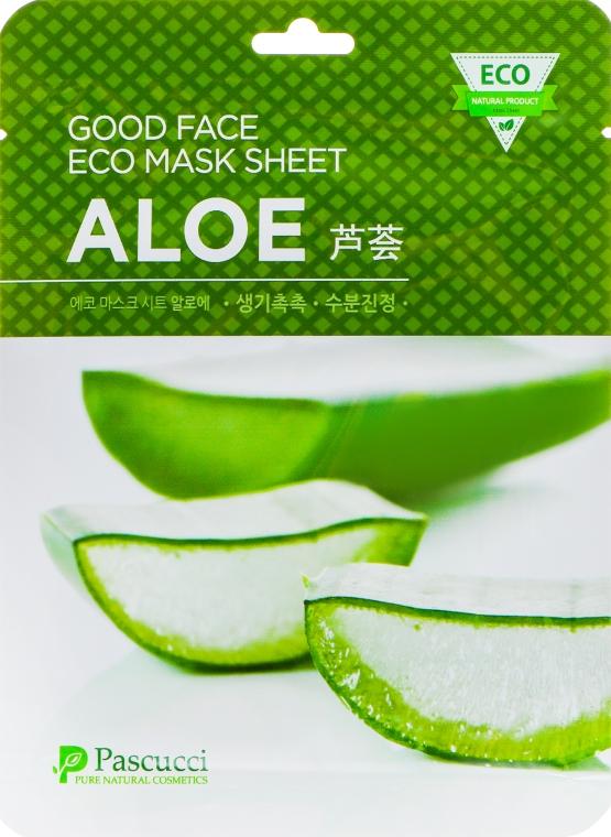 Маска для лица с алоэ - Amicell Pascucci Good Face Eco Mask Sheet Aloe