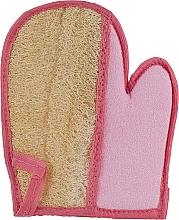 Духи, Парфюмерия, косметика Мочалка-перчатка из люфы, розовая - Soap Stories