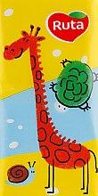 "Духи, Парфюмерия, косметика Носовые платки ""Детские"" 10 шт., жираф - Ruta Family Pack"
