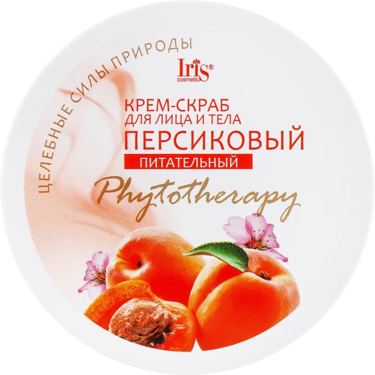 """Крем-скраб для лица и тела """"Персиковый"""", питательный - Iris Cosmetic"""