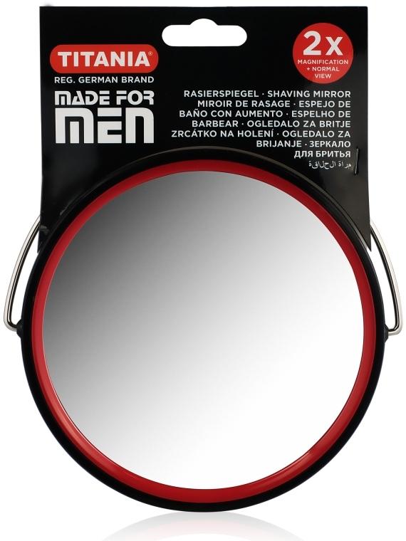 Зеркало двухстороннее для бритья мужское, 12.5см - Titania