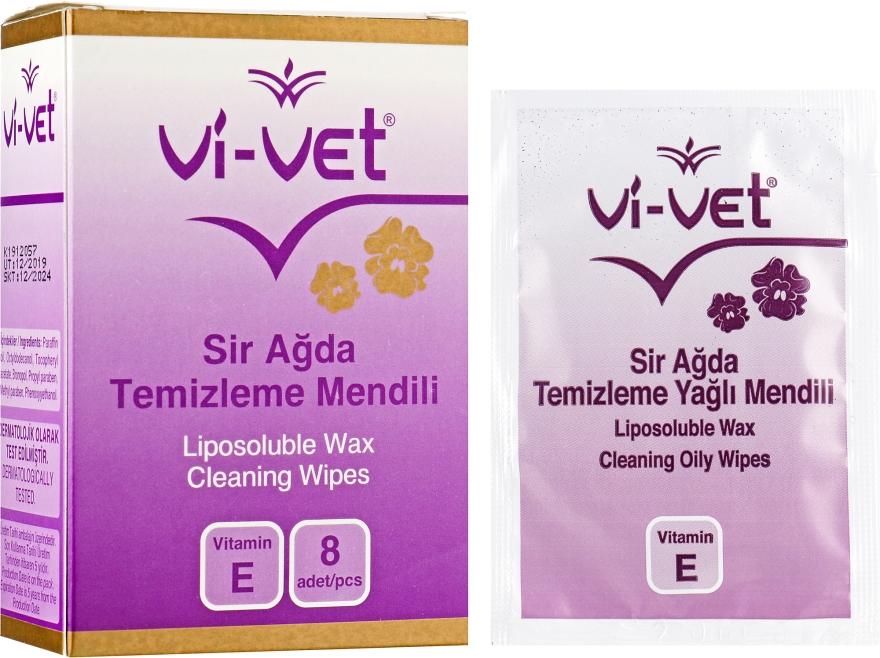 Очищающие салфетки после депиляции - Vi-Vet Liposoluble Wax Cleaning Wipes