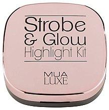 Духи, Парфюмерия, косметика Бронзер-хайлайтер - MUA Luxe Strobe & Glow Highlight Kit