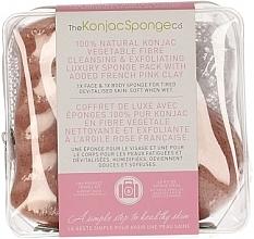 Духи, Парфюмерия, косметика Спонж - The Konjac Sponge Company Travel/Gift Sponge Bag Duo Pack French Pink Clay