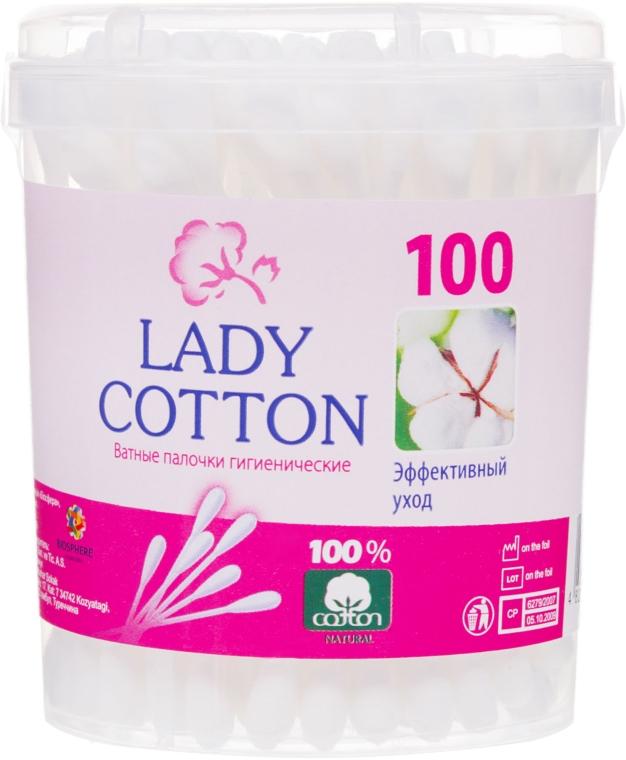 Ватные палочки в банке, 100шт - Lady Cotton