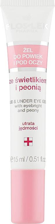 Гель для век и кожи вокруг глаз с очанкой и пионом - Floslek Lid And Under Eye Gel With Eyebright & Peony
