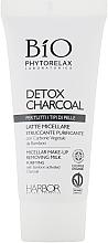 Набор - Phytorelax Laboratories Bio Detox Charcoal (f/gel/40ml + f/milk/40ml + mask/20ml + bag) — фото N5