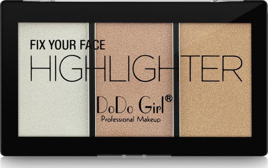 Палетка хайлайтеров - DoDo Girl Fix Your Face Highlighter
