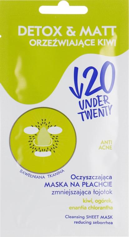 Матирующая очищающая маска для лица - Under Twenty Anti! Acne Detox & Matt Face Mask