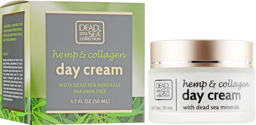 Дневной крем с экстрактом конопли, коллагеном и минералами Мертвого моря - Dead Sea Collection Hemp & Collagen Day Cream