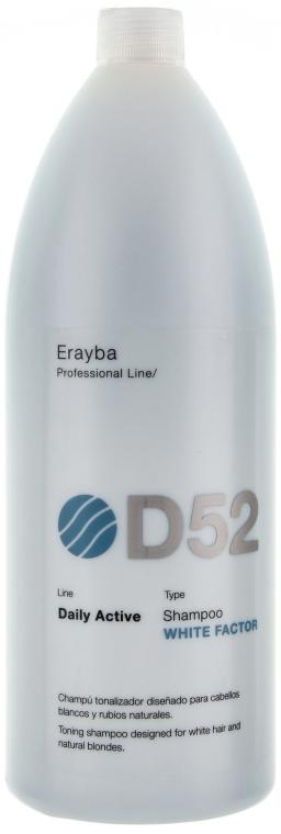Шампунь для седых и осветленных волос - Erayba D52 White Factor Shampoo