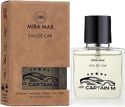 Духи, Парфюмерия, косметика Ароматизатор для авто - Mira Max Eau De Car Captain M Perfume Natural Spray For Car Vaporisateur