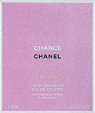 Парфумерія, косметика Chanel Chance Eau Vive - Набір (refill/3x20ml)