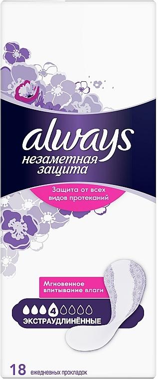 Ежедневные гигиенические прокладки, 18шт - Always Незаметная защита