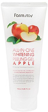 Яблочная пилинг-скатка для лица - FarmStay All-In-One Whitening Peeling Gel Cream Apple