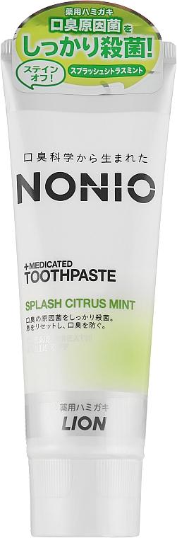 Зубная паста отбеливающего и длительного освежающего действия с мятно-цитрусовым вкусом - Lion Nonio Toothpaste
