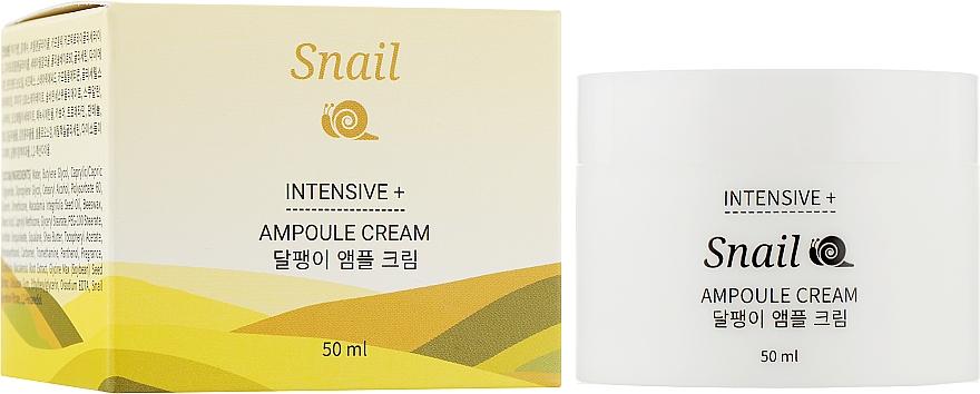 Крем для лица ампульный с муцином улитки - Jkosmec Snail Intensive+ Ampoule Cream