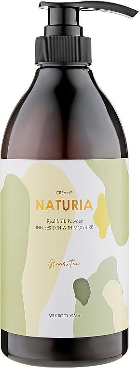 """Гель для душа """"Зелёный чай"""" - Naturia Creamy Milk Body Wash Green Tea"""