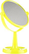 Духи, Парфюмерия, косметика Зеркало на подставке 85734, круглое, 15,5 см, желтое - Top Choice Colours Mirror