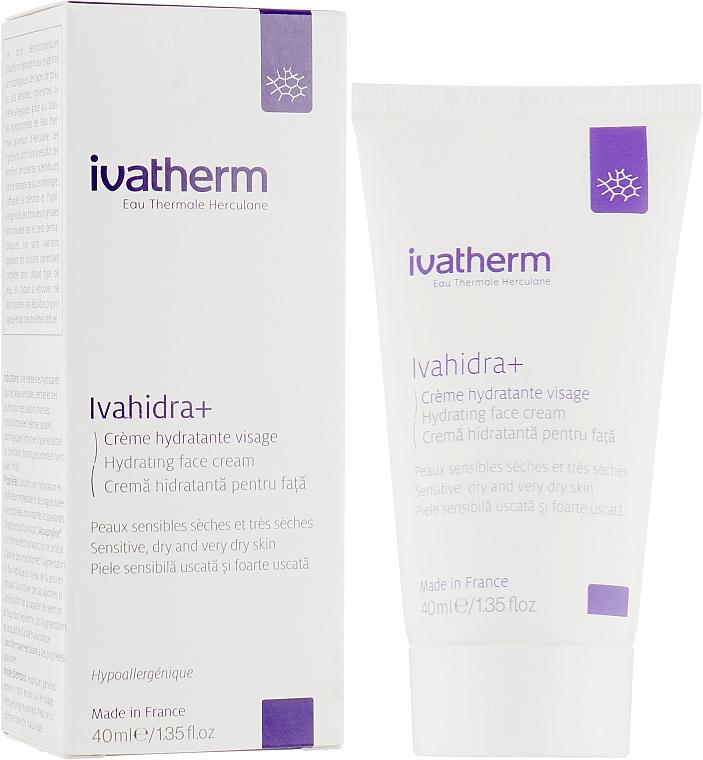 Увлажняющий крем для лица, для чувствительной, сухой и очень сухой кожи - Ivatherm Ivahidra+ Hydrating Face Cream