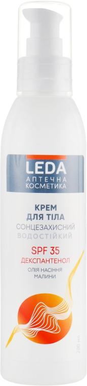 Солнцезащитный крем для тела SPF 35 - Leda Body Sunscreen Cream SPF 35