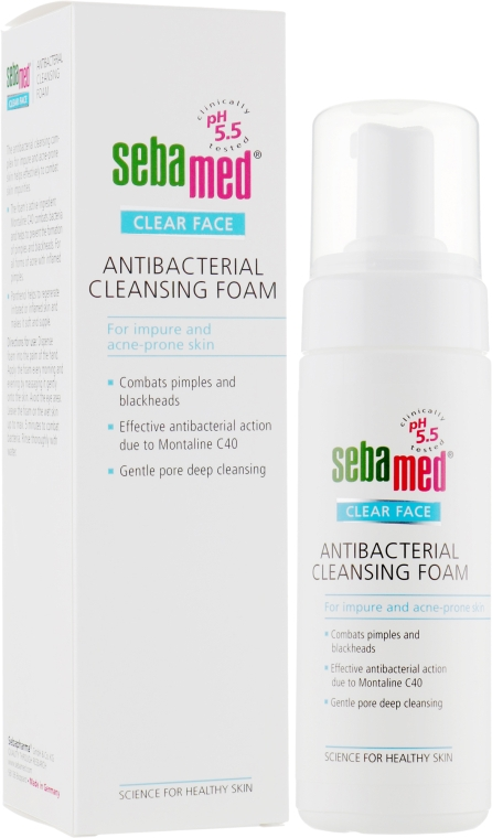 Пенка для лица очищающая антибактериальная - Sebamed Clear Face Antibacterial Cleansing Foam