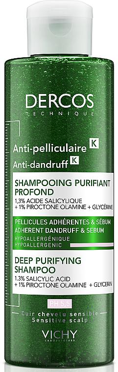 Шампунь-скраб для глубокого очищения кожи головы и волос против устойчивой перхоти и избытка себума - Vichy Dercos Anti-Dandruff Deep Purifying Shampoo