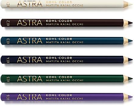 Цветной карандаш-каял для глаз - Astra Make-up Kohl Color Kajal