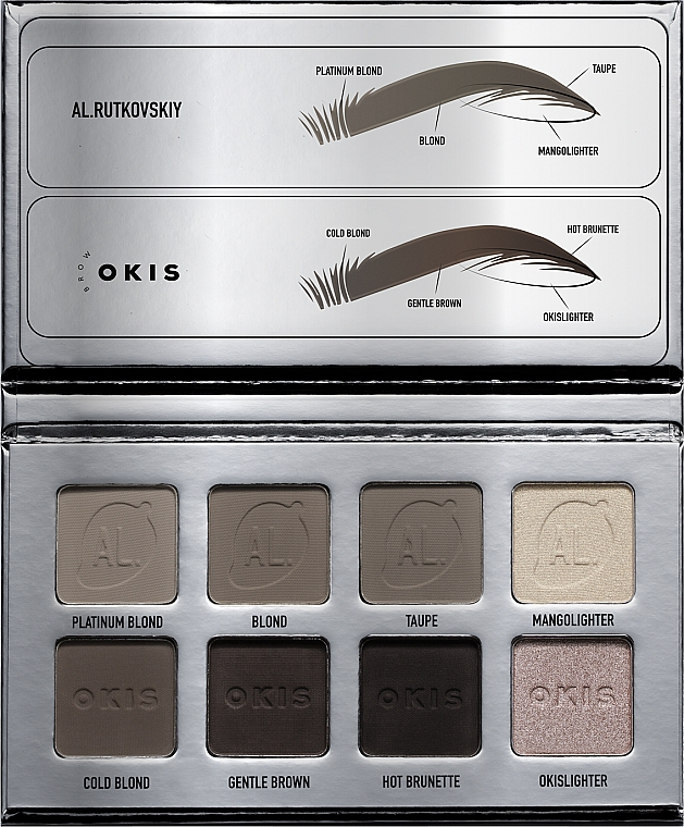 Палетка для бровей - AL.Rutkovskiy Brow Pro Palette