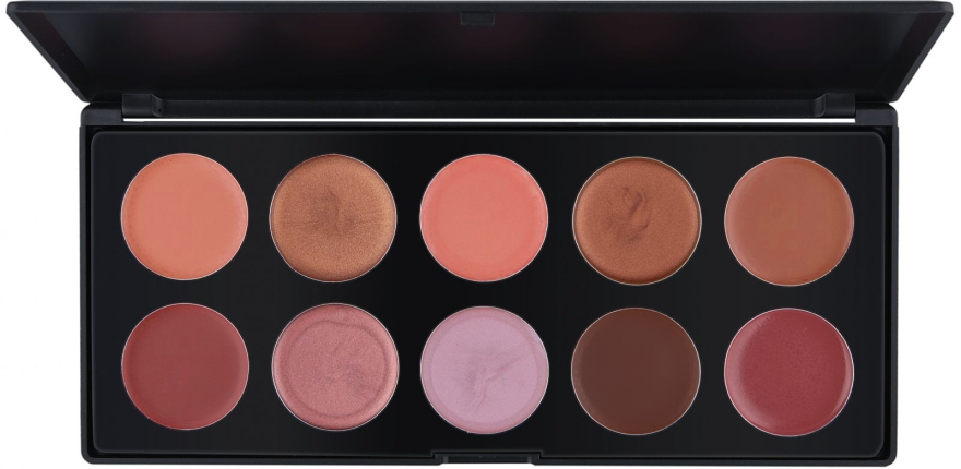 Профессиональная палитра помад/блесков на 10 цветов, L10-1 - Make Up Me