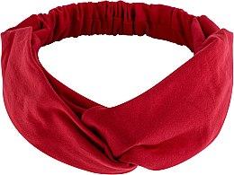 "Духи, Парфюмерия, косметика Повязка на голову, трикотаж переплет, красная ""Knit Twist"" - MakeUp Hair Accessories"