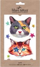 Духи, Парфюмерия, косметика Акварельные переводные тату - Miami Tattoos Cats