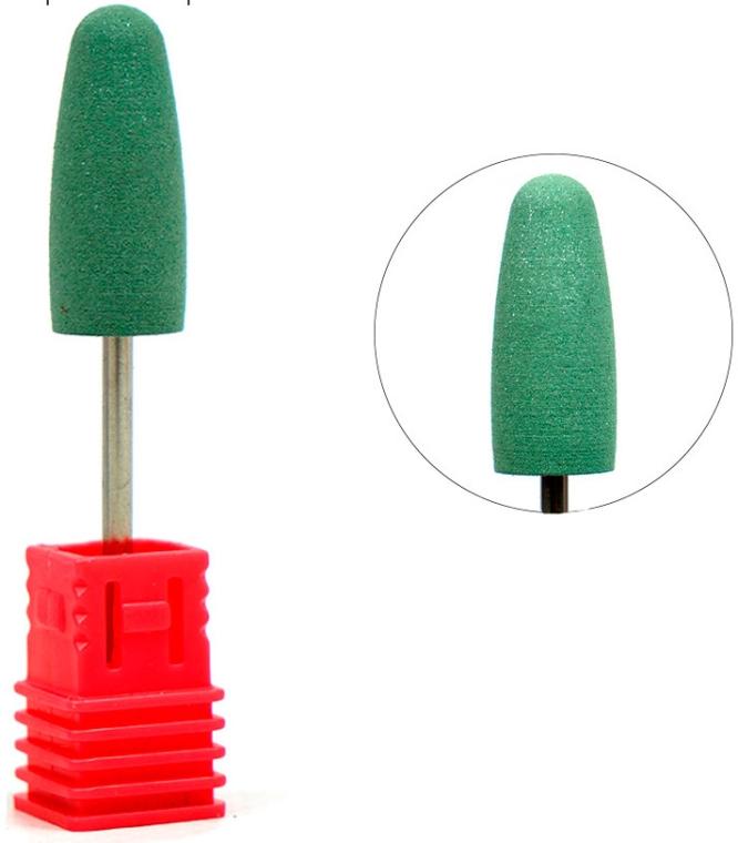 Полировщик силиконовый большой конус закругленный, средний абразив, зеленый - Tufi Profi