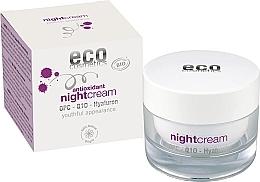 Духи, Парфюмерия, косметика Антиоксидантный ночной крем для лица с гиалуроном - Eco Cosmetics Antioxidant Night Cream With OPC Q10 & Hyaluron