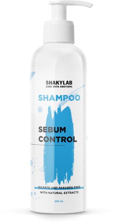 """Шампунь бессульфатный для жирных волос """"Sebum Control"""" - SHAKYLAB Sulfate-Free Shampoo"""